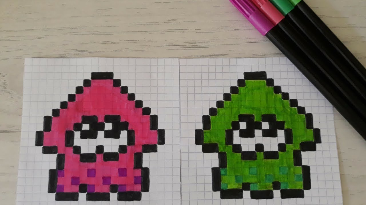 Pixel Art Splatoon ! concernant Jeux Dessin Pixel