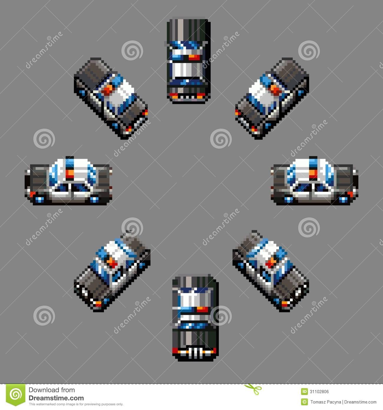Pixel Art Voiture De Police dedans Voiture Pixel Art