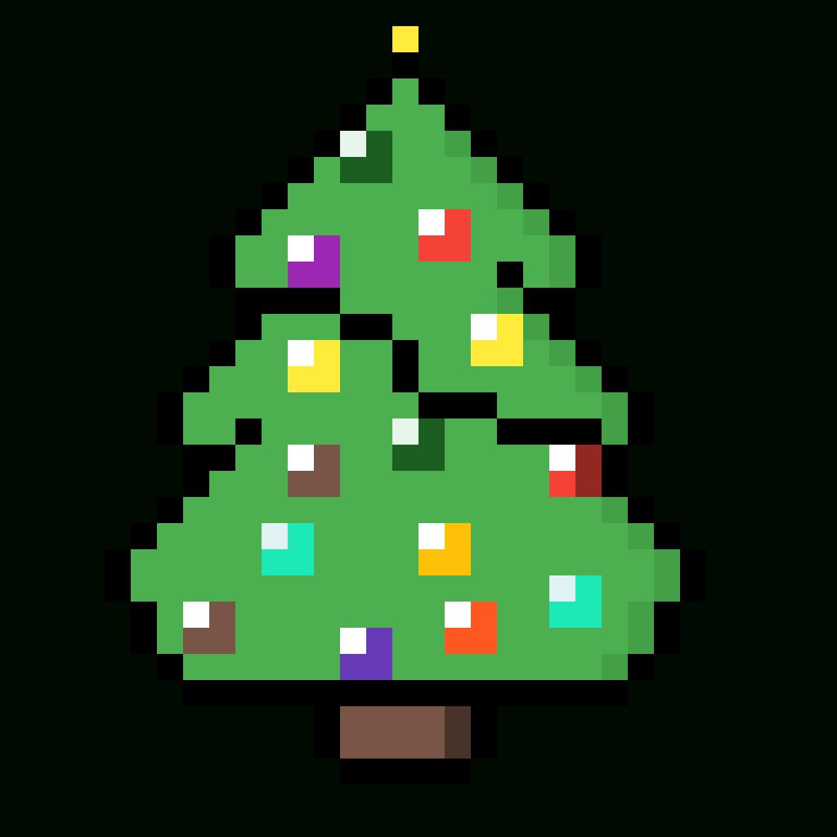Pixilart - Christmas Tree - Pixel Art By Thecatlover57 à Pixel Art De Noël