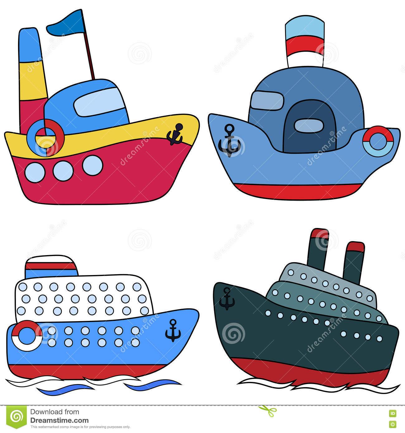 Placez Le Passager De Paquebot Enfantin Illustration De concernant Paquebot Dessin