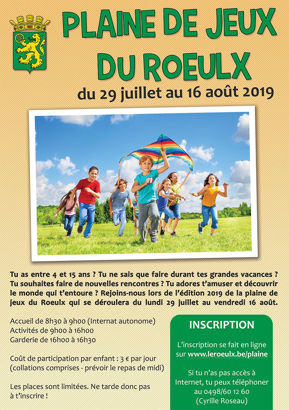 Plaine De Jeux Du Roeulx - Du 29 Juillet Au 16 Août 2019 dedans Jeux Enfant 3 Ans En Ligne
