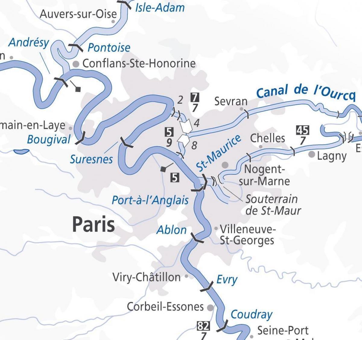 Plan De Paris Seine - Paris La Carte De Fleuve (Île-De dedans Carte Fleuve France