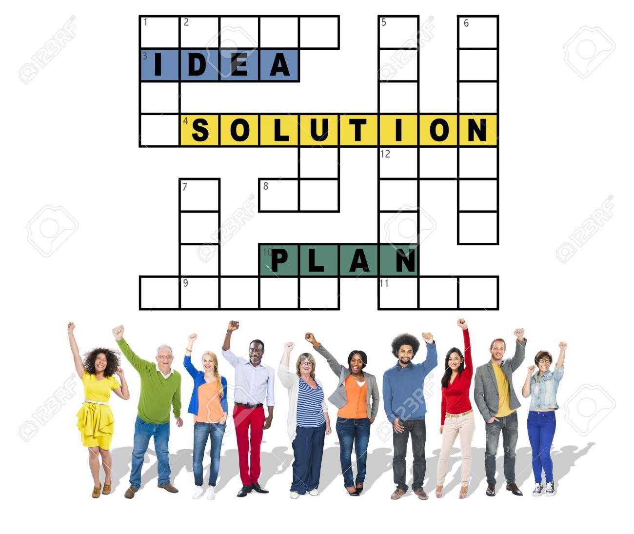 Plan D'idées De Solution Concept De Mots Croisés De Résultat avec Resultat Mots Croises
