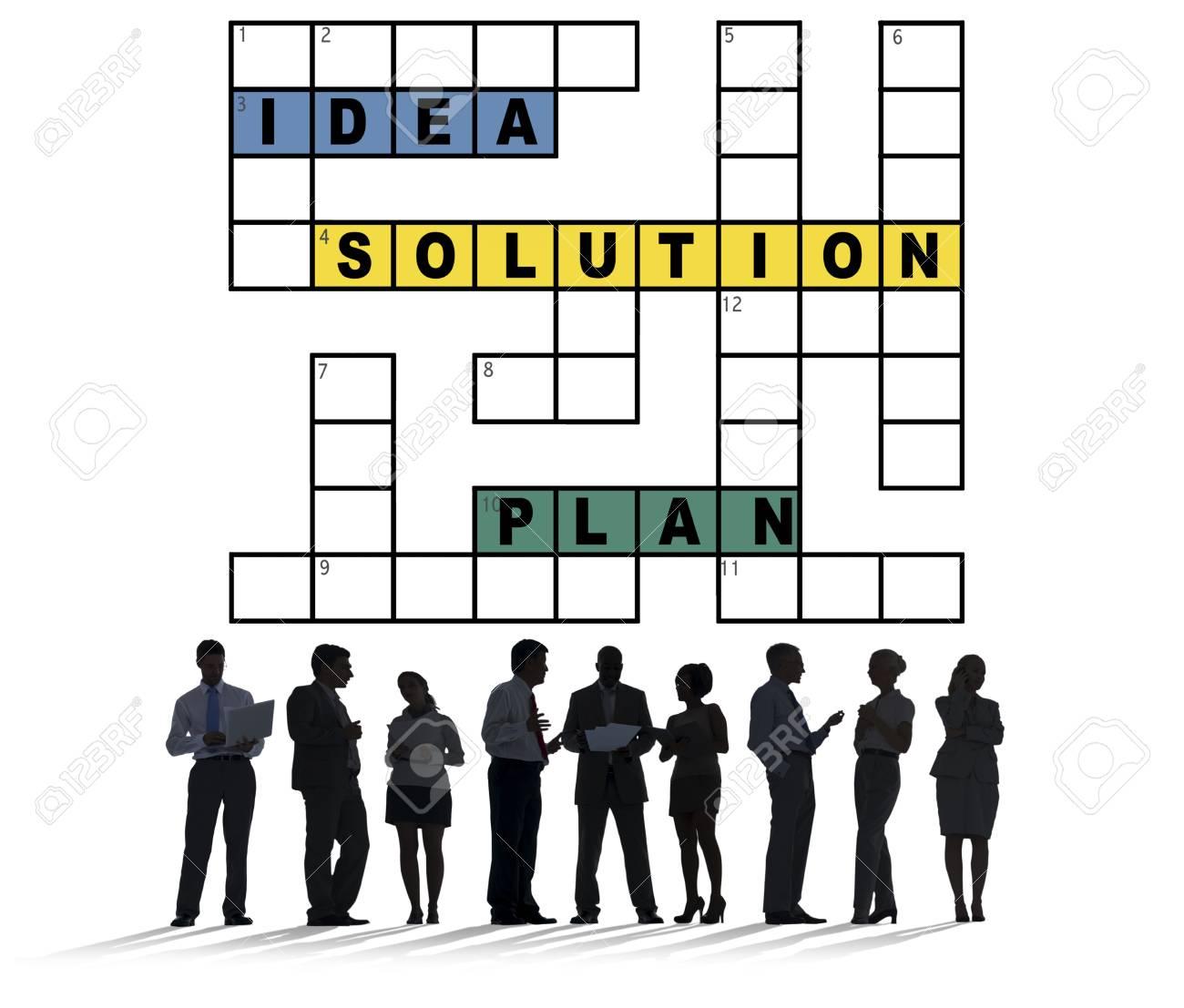 Plan D'idées De Solution Concept De Mots Croisés De Résultat destiné Resultat Mots Croises