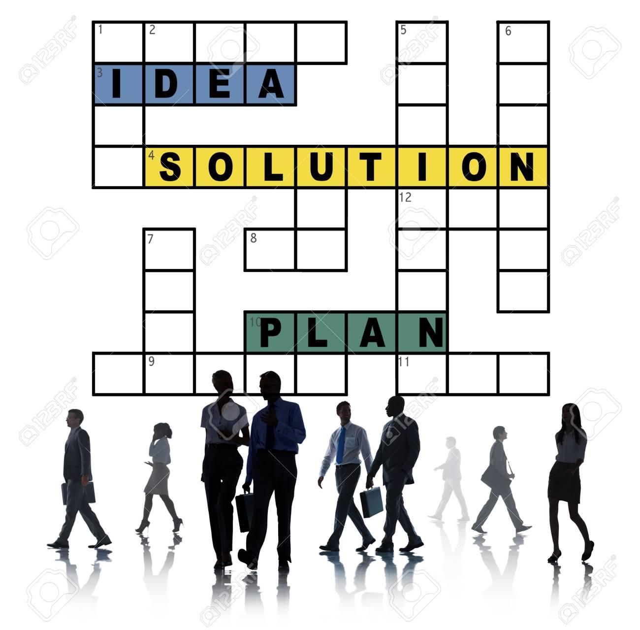 Plan D'idées De Solution Concept De Mots Croisés De Résultat serapportantà Résultats Mots Croisés