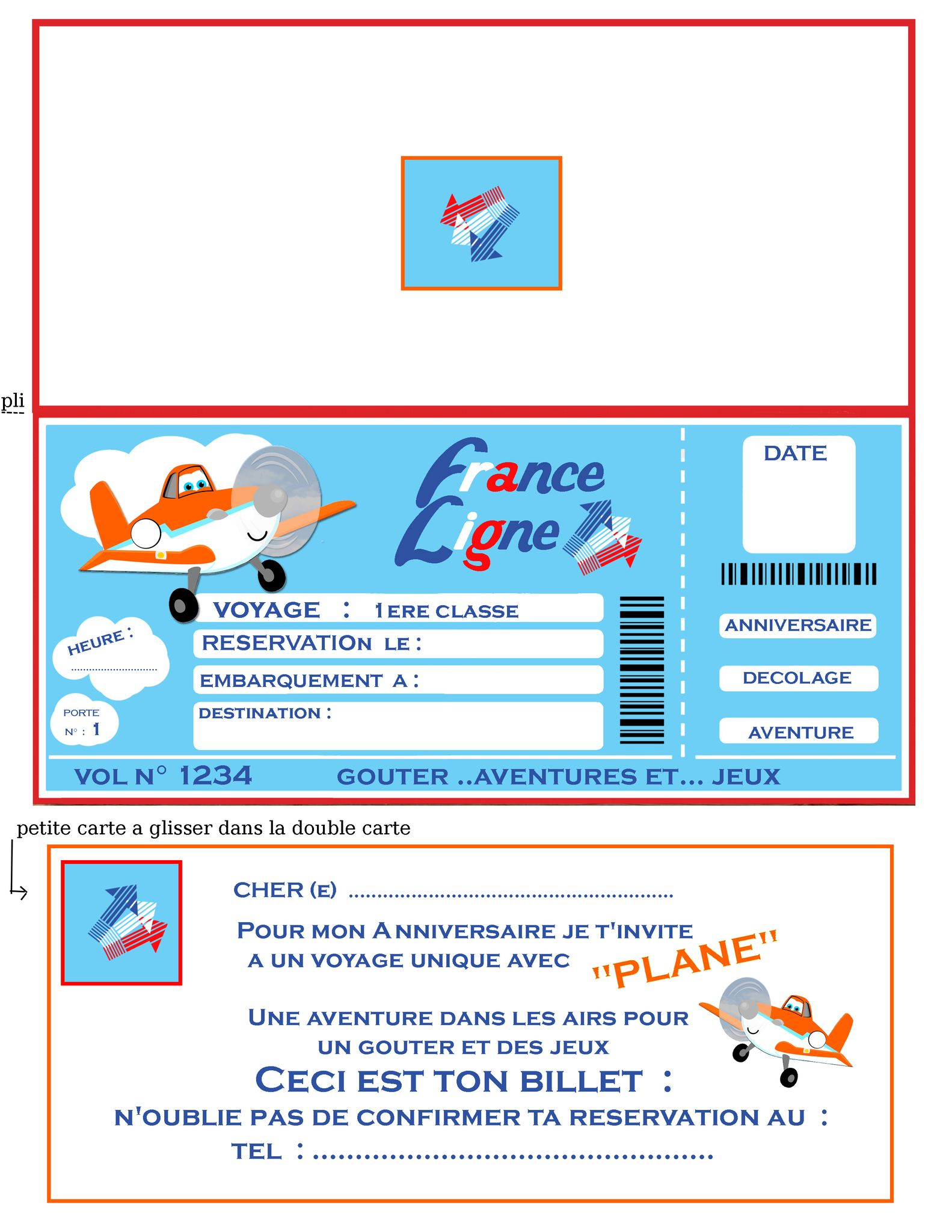 Plane Petit Avion Vole. Et Autres Avions De Papier - 1 Et encequiconcerne Billet A Imprimer