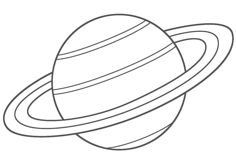 Planet Coloring Pages Saturn | Dessin Planète, Les Aliens à Saturne Dessin