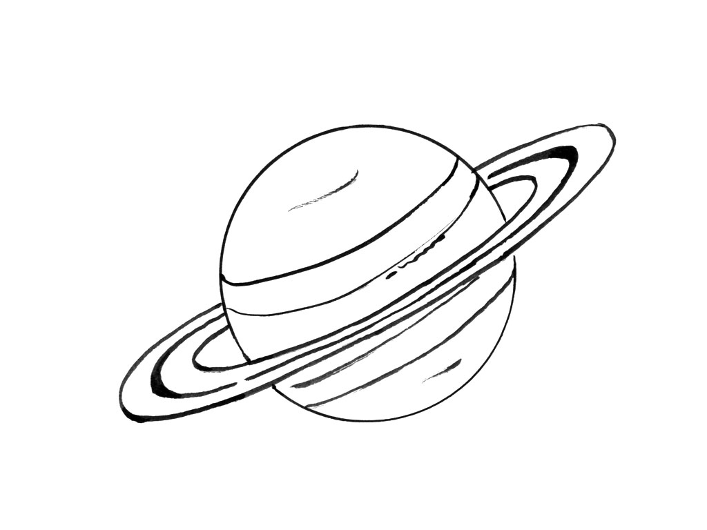Planète #8 (Nature) – Coloriages À Imprimer destiné Saturne Dessin