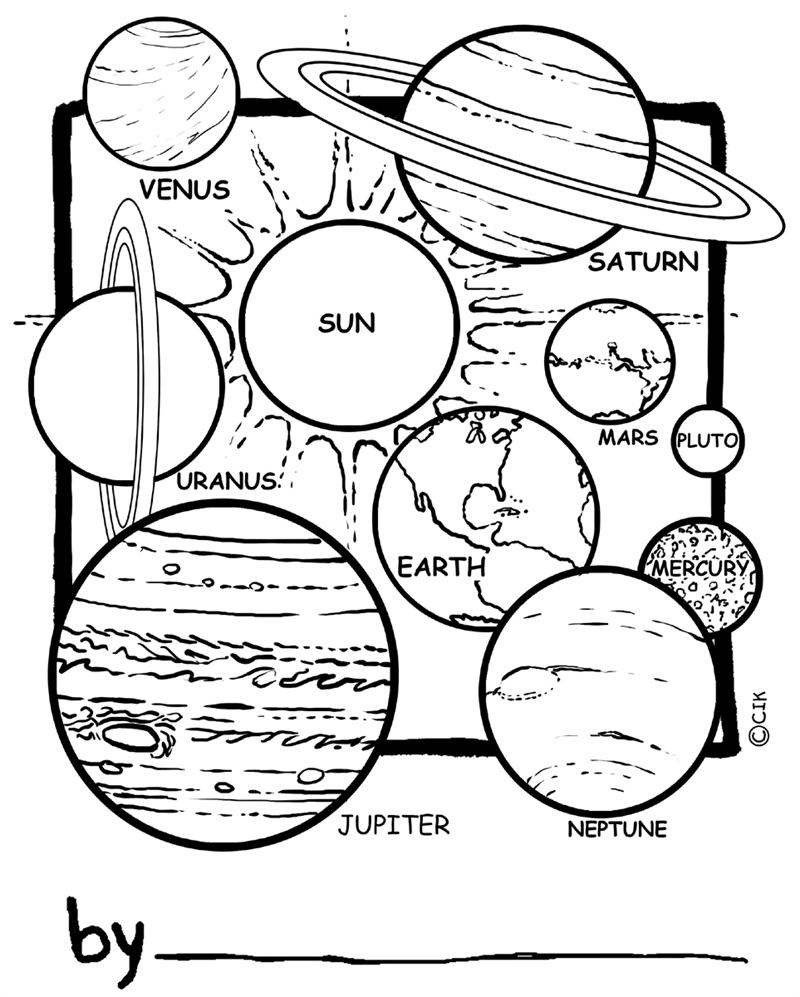 Planète #9 (Nature) – Coloriages À Imprimer intérieur Saturne Dessin