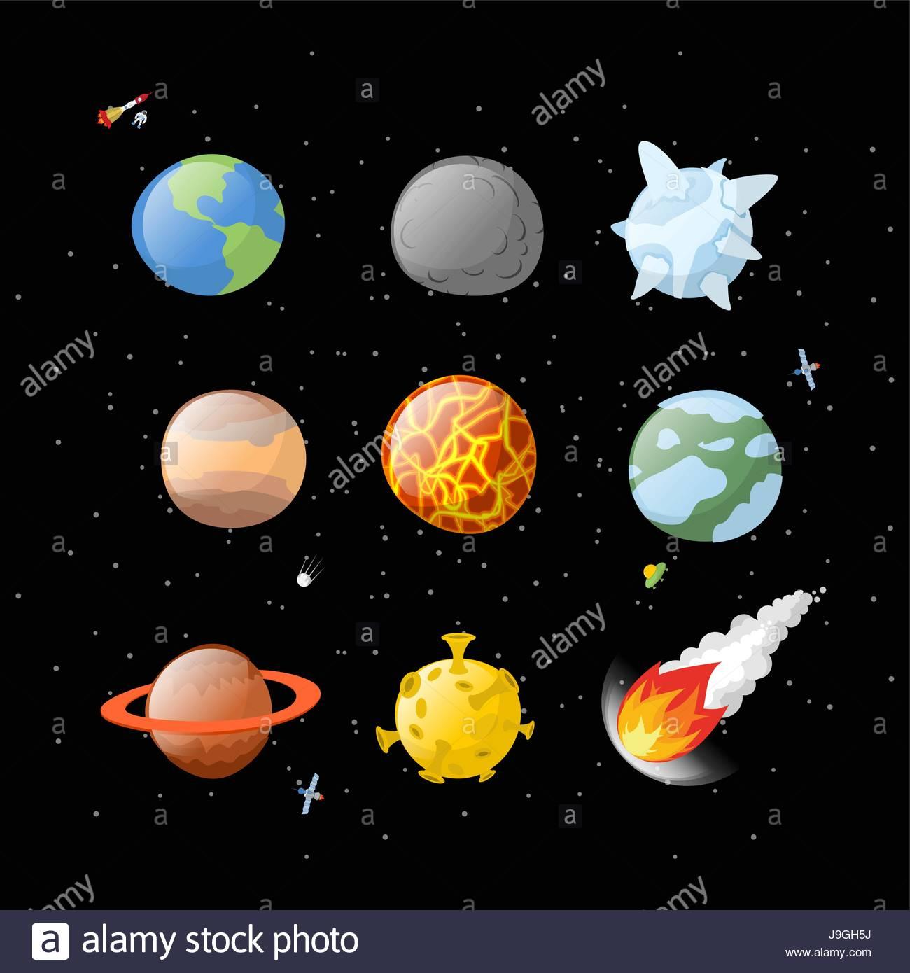 Planète Définir Un Arrière-Plan Sombre. L'espace Sombre intérieur Dessin Du Système Solaire