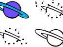 Planète Saturne Et Ses Anneaux. Vector Illustration. Coloriage Et Point À  Point Jeu Éducatif Pour Les Enfants concernant Saturne Dessin