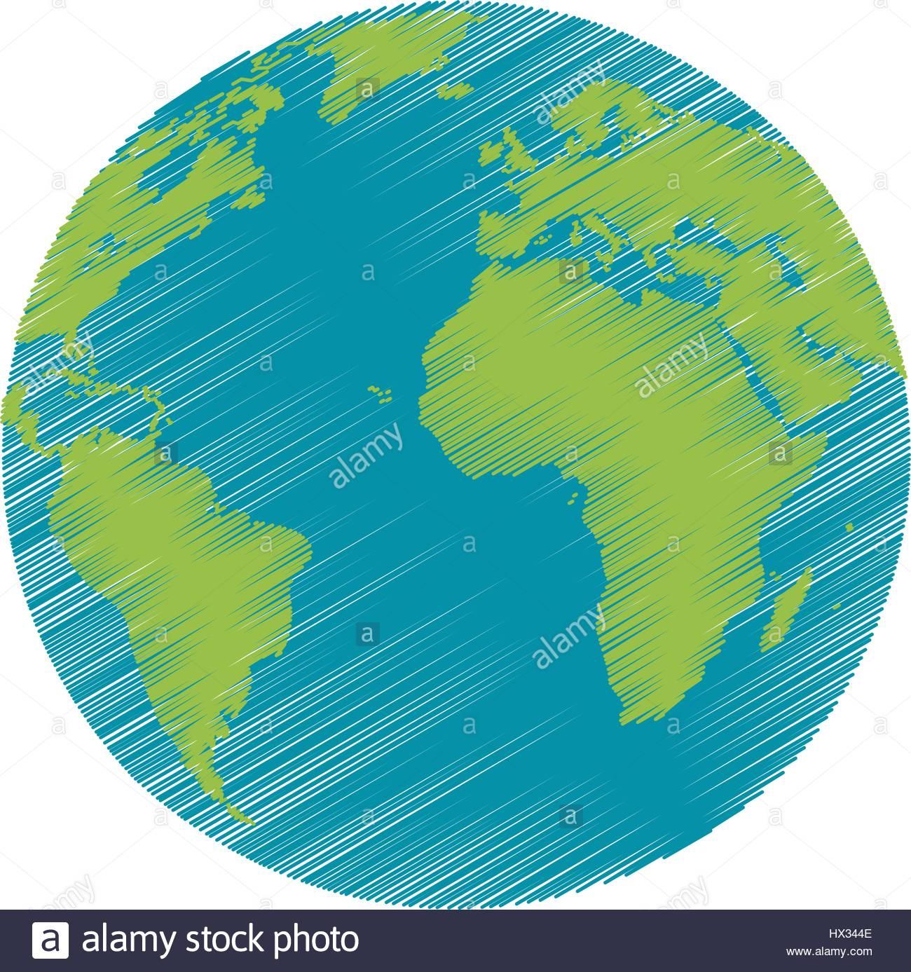 Planète Terre Dessin Image Mondiale Vecteurs Et Illustration destiné Image De La Terre Dessin