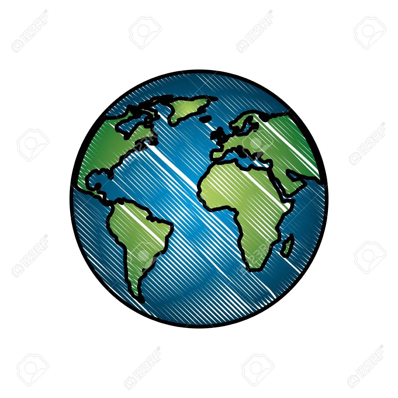 Planète Terre Monde Planète Energy Energy Vector Illustration Dessin à Image De La Terre Dessin