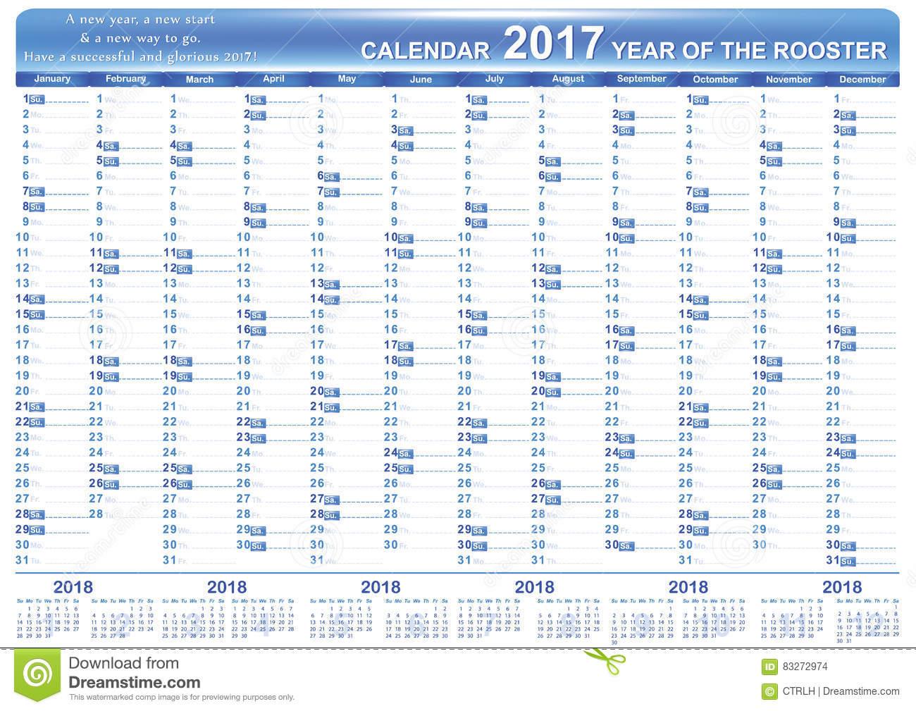 Planificateur Imprimable Anglais D'organisateur, Calendrier serapportantà Calendrier 2017 Imprimable