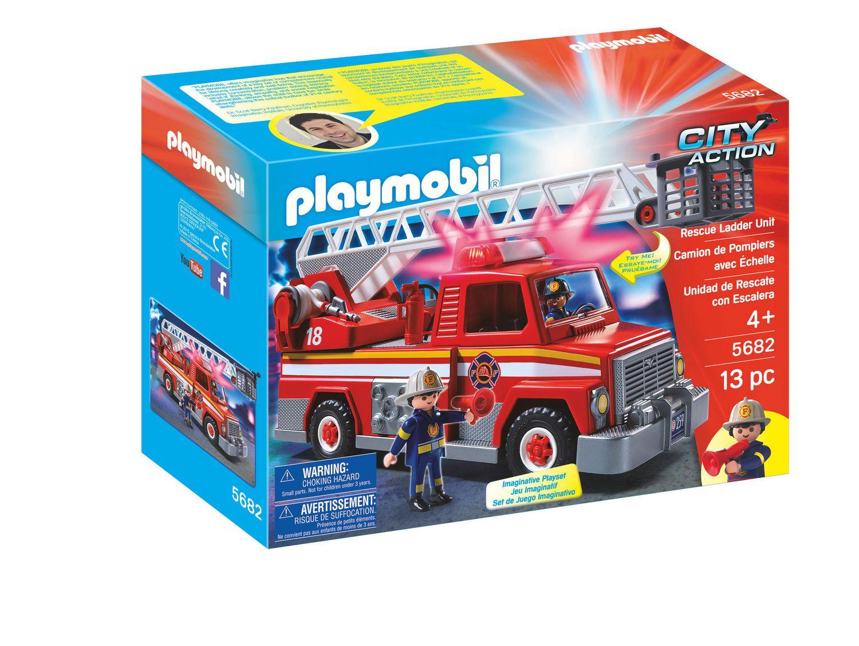 Playmobil Camion De Pompiers Avec Échelle 5682 Jeu Complet dedans Jeux De Camion De Pompier Gratuit