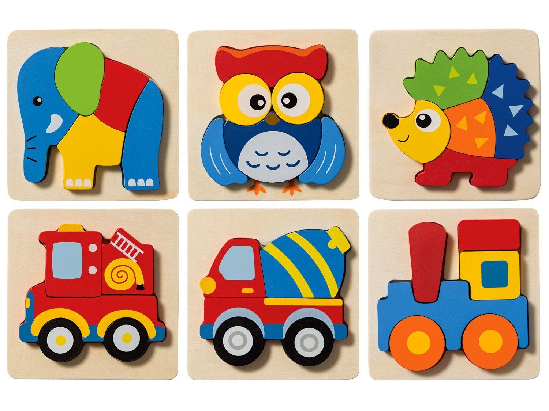Playtive®Junior Puzzle D'encastrement, En Bois | Lidl intérieur Puzzle En Ligne Enfant