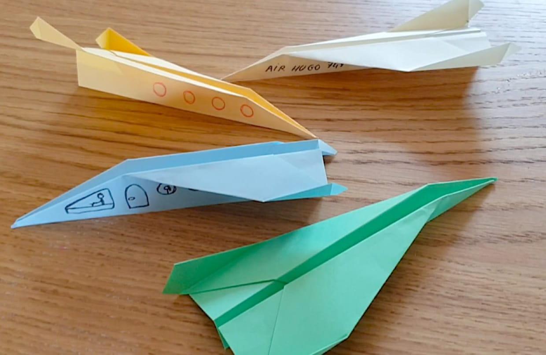 Pliage Avion En Papier, Origami Avion En Vidéo avec Pliage Papier Enfant