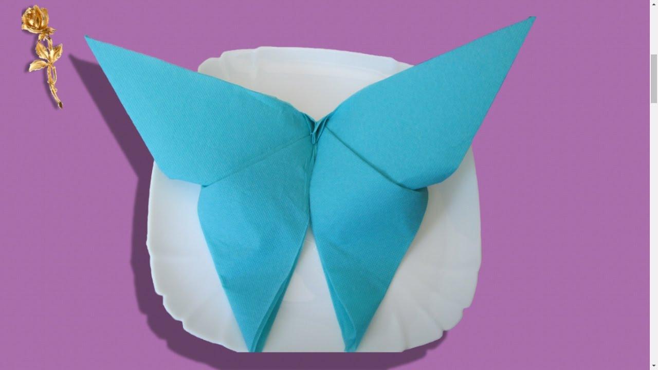 Pliage Des Serviettes 🍽 : Papillon 🦋 serapportantà Pliage Papier Enfant