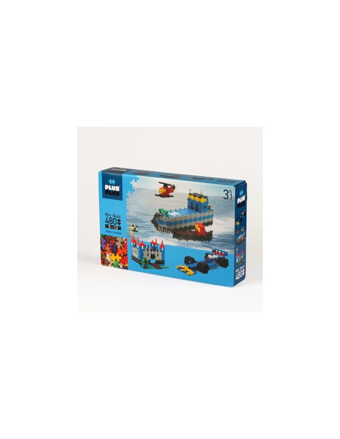 Plus Plus Box 3 En 1 Mini-Basic 480 Pièces - Jeux De Construction tout Puzzle 5 Ans En Ligne