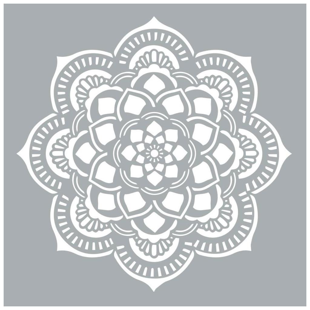 Pochoir Décoratif Home Deco Xl 45.7 X 45.7 Cm Mandalas Rosace pour Rosace A Imprimer