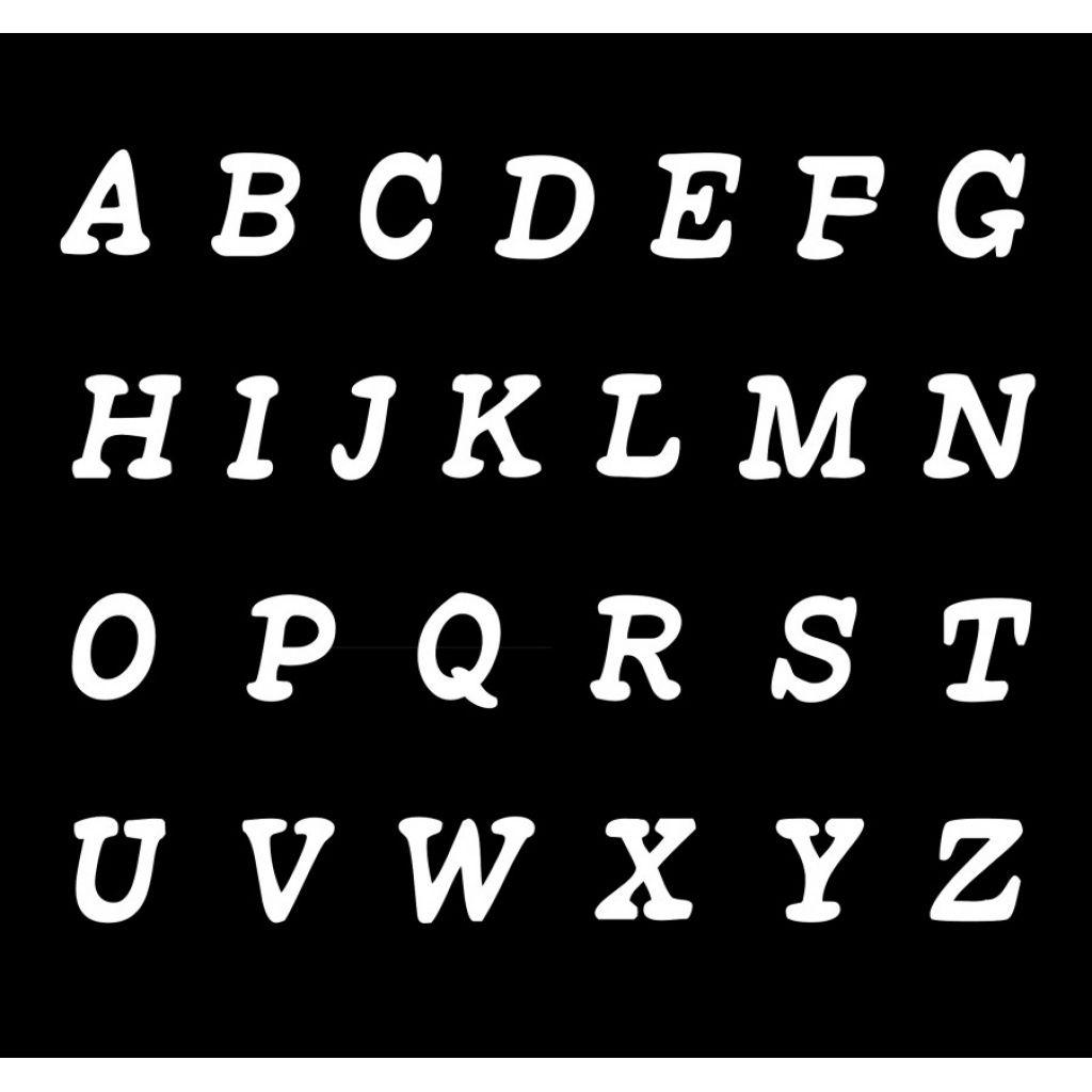 Pochoir Lettre À Imprimer Gratuit Pour Pochoir Lettre tout Lettre De L Alphabet A Imprimer Et Decouper