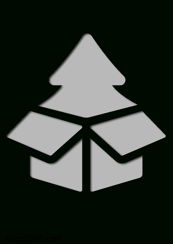 Pochoir Noel Arbre De Noël Dans Une Boîte intérieur Boite De Noel A Imprimer