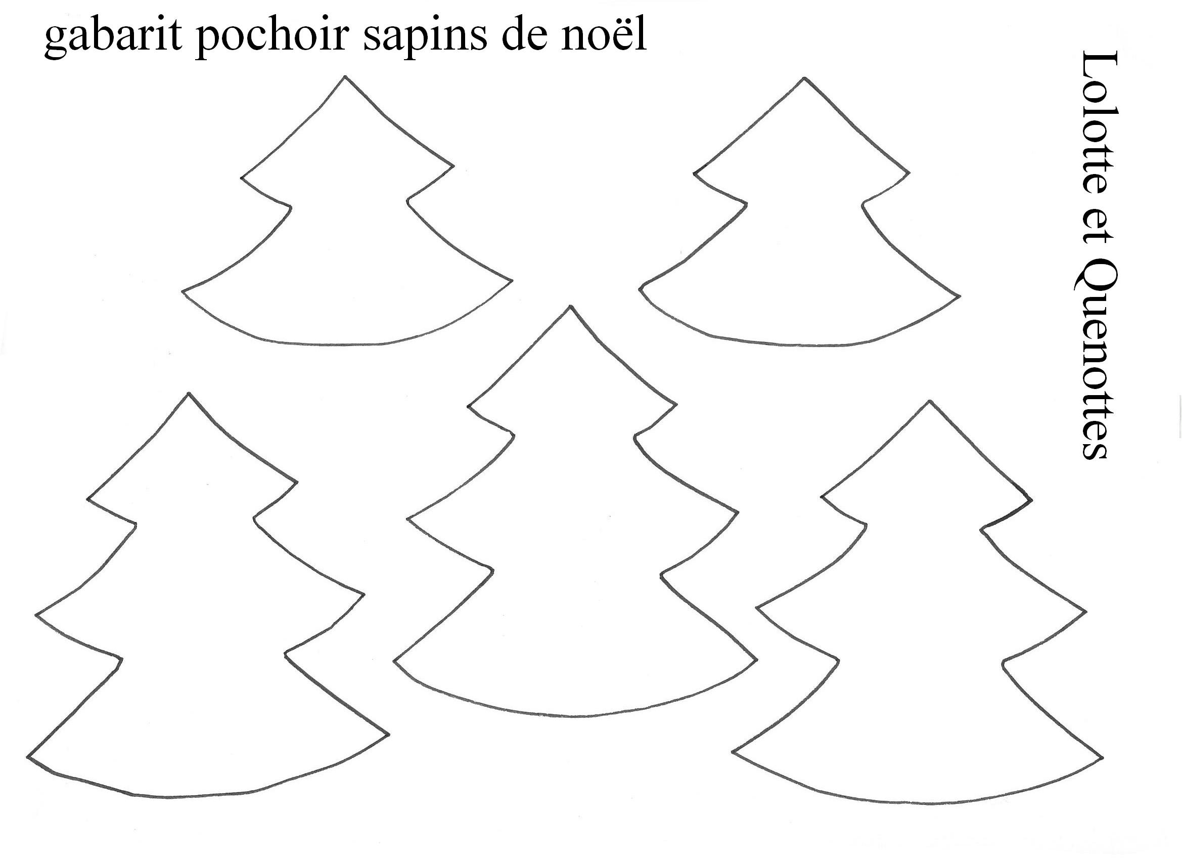 Pochoir Sapins De Noël destiné Gabarit Sapin De Noel