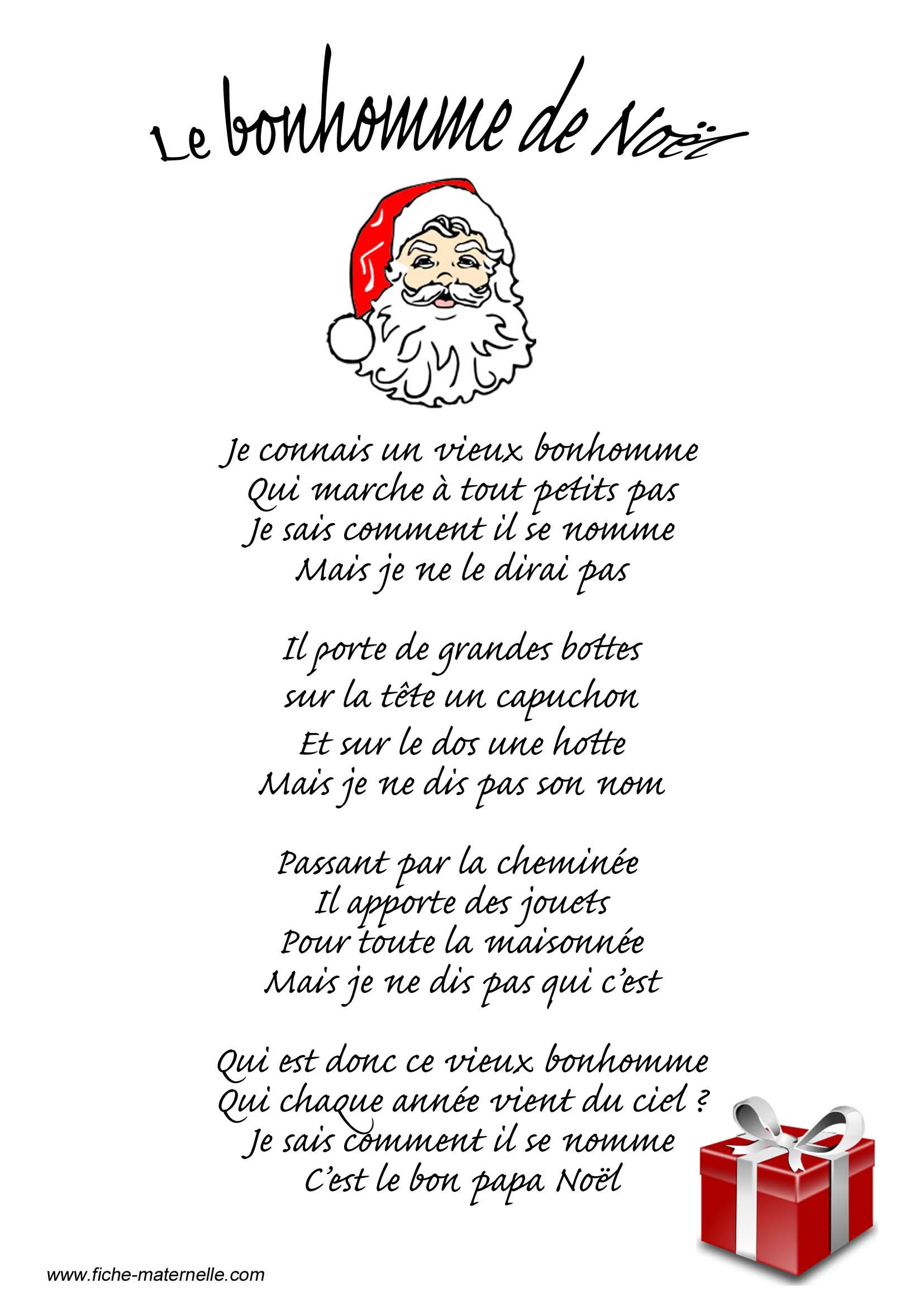 Poésie Sur Le Thème De Noël à Imagier Noel Maternelle