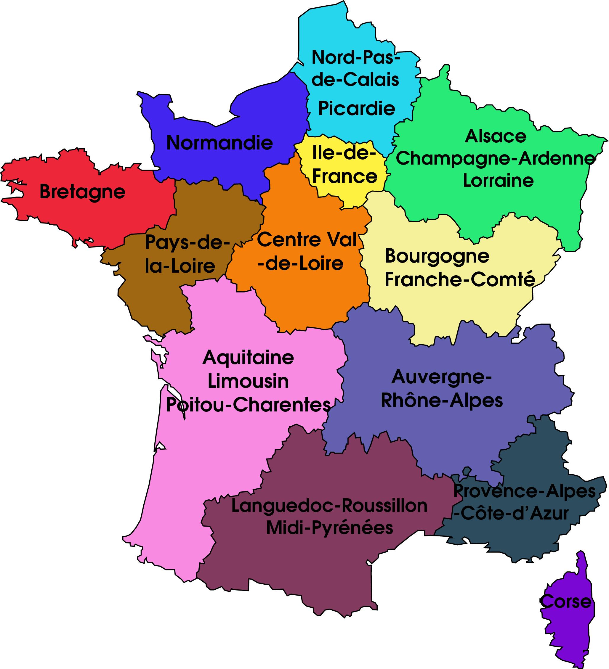 Point Sur Les Nouvelles Régions Françaises | Learn French dedans Nouvelles Régions De France