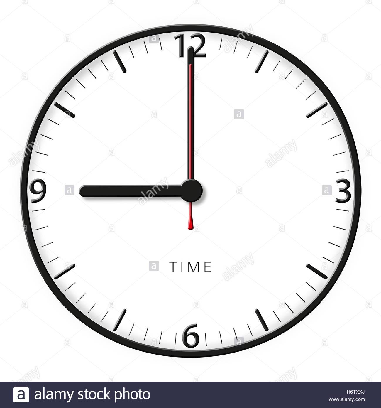 Pointeur D'horloge Temps Secondes Minutes Heures Pommes dedans Dessin D Horloge