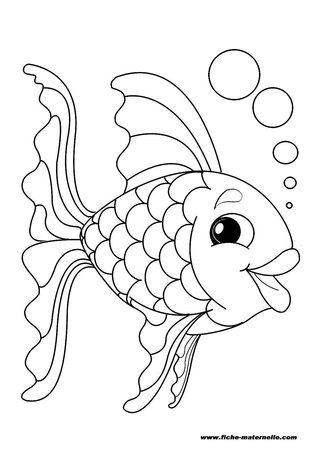 Poisson #11 (Animaux) – Coloriages À Imprimer concernant Dessin De Poisson D Avril A Imprimer