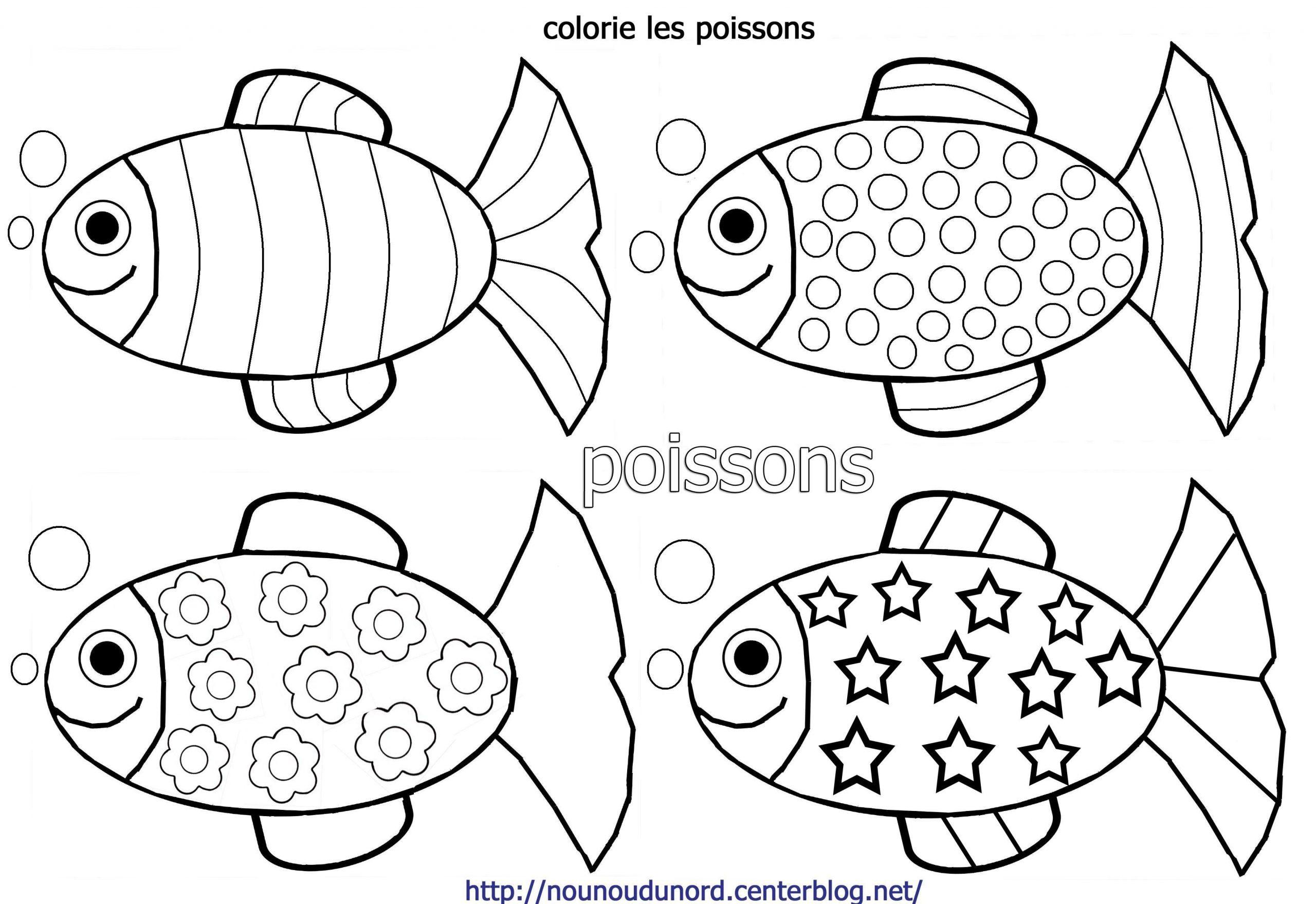 Poisson D Avril Maternelle | Coloriage Poisson, Poisson D dedans Dessin De Poisson D Avril A Imprimer