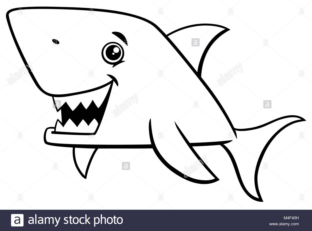 Poissons Requins Coloriage Banque D'images, Photo Stock encequiconcerne Coloriage Requin Blanc Imprimer