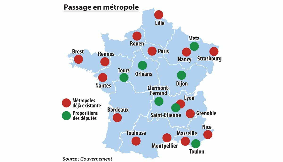 Politique | Metz Sur La Carte De France Des Grandes Villes à Carte De France Avec Les Villes