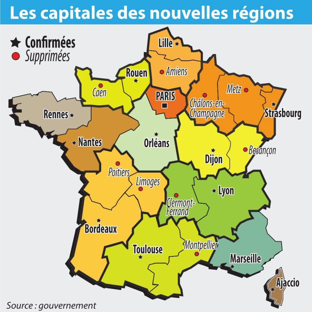 Politique | Nouvelles Régions, Nouvelles Capitales à Les Nouvelles Regions