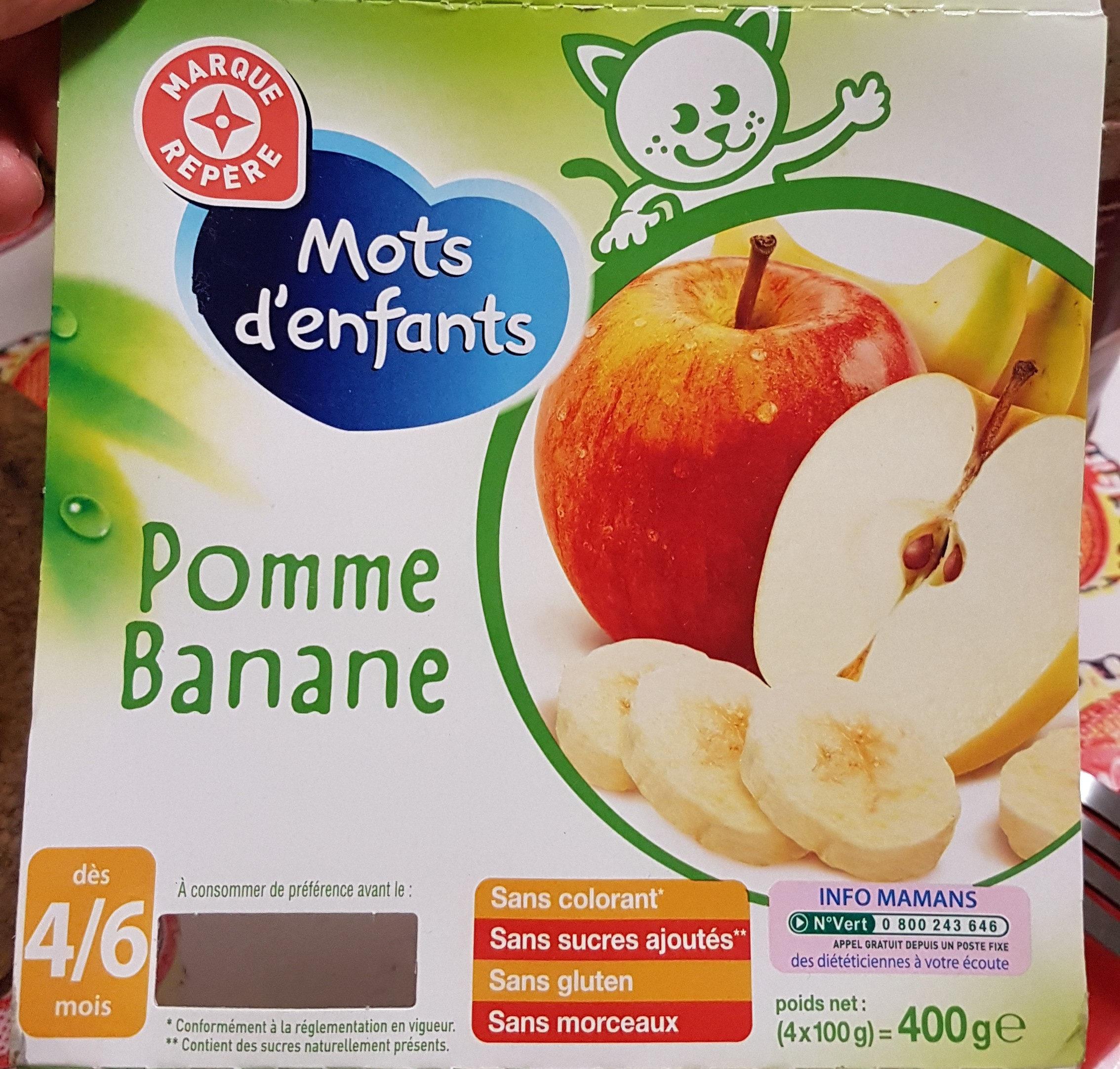 Pomme Banane Mot D'enfant - Mots D'enfants - 4 X 100G destiné Mot Pour Enfant