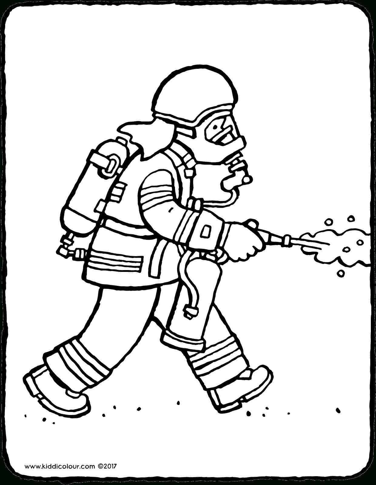 Pompier - Kiddicoloriage dedans Dessin De Pompier À Imprimer