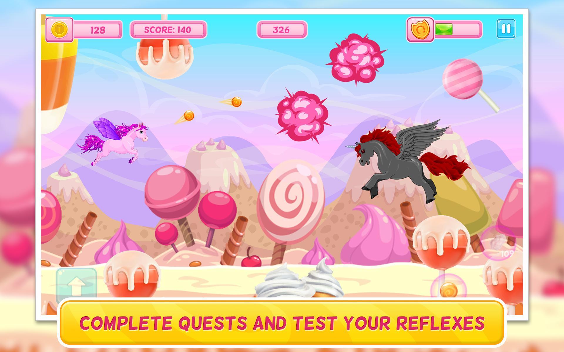 Poney Dans Candy World: Jeu D'arcade: Gratuit Pour Android pour Jeux Rigolos Gratuits