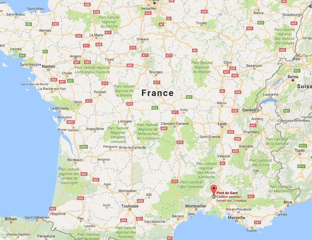 Pont Du Gard - Sites Touristiques Du Gard (30) - Tourisme destiné Carte De France Ludique