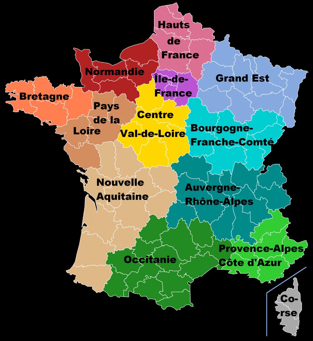 Population, Chômage, Salaires… : La Carte D'identité Des encequiconcerne Carte Des Nouvelles Régions