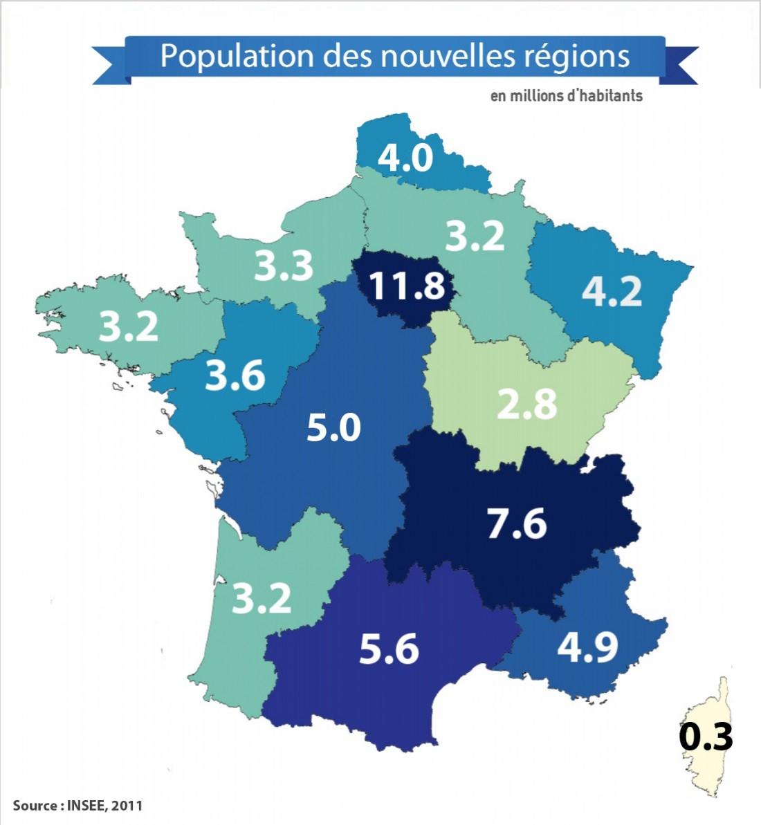 Population, Pib, Capitales : Quel Est Le Profil Des 14 encequiconcerne Les Nouvelles Regions