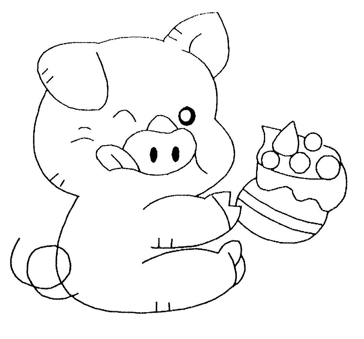 Porc #50 (Animaux) – Coloriages À Imprimer dedans Dessin Cochon A Colorier