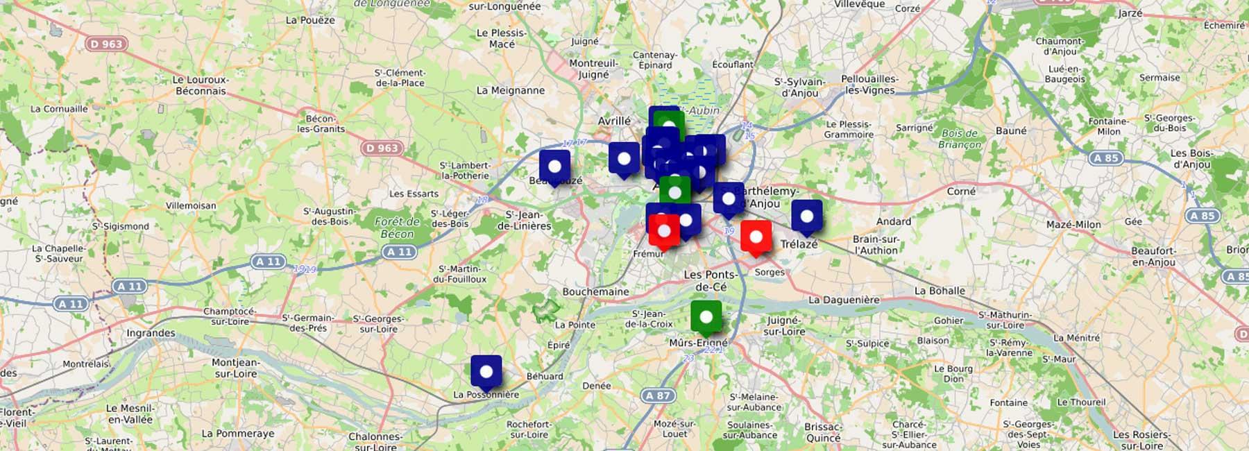 Portail Du Département - Maine-Et-Loire (49) concernant Département 13 Carte