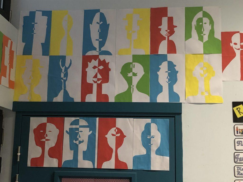 Portrait En Symétrie – École Saint-Sauveur à Arts Visuels Symétrie