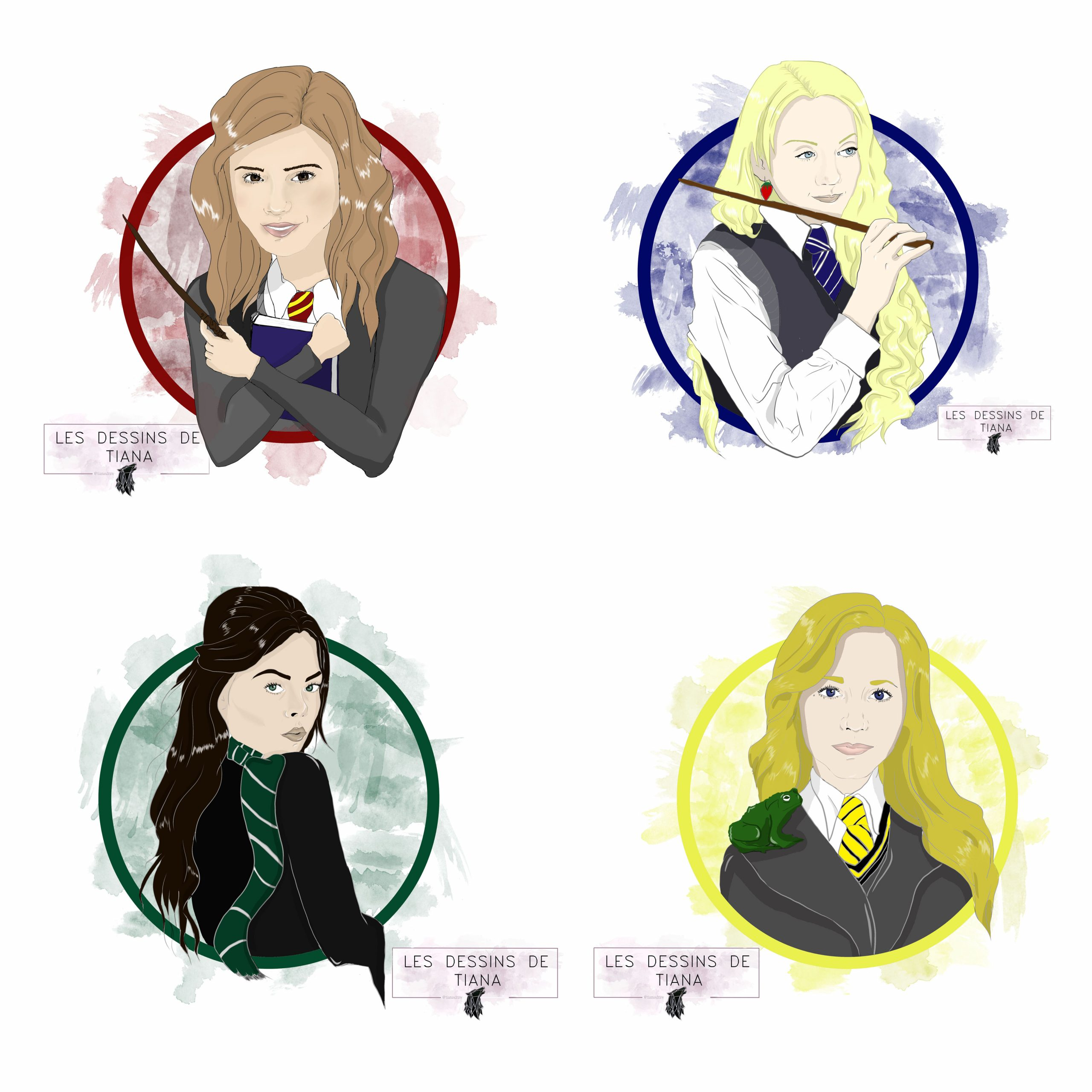 Portrait Personnalise Style Poudlard A4 (Harry Potter) serapportantà Dessin D Harry Potter