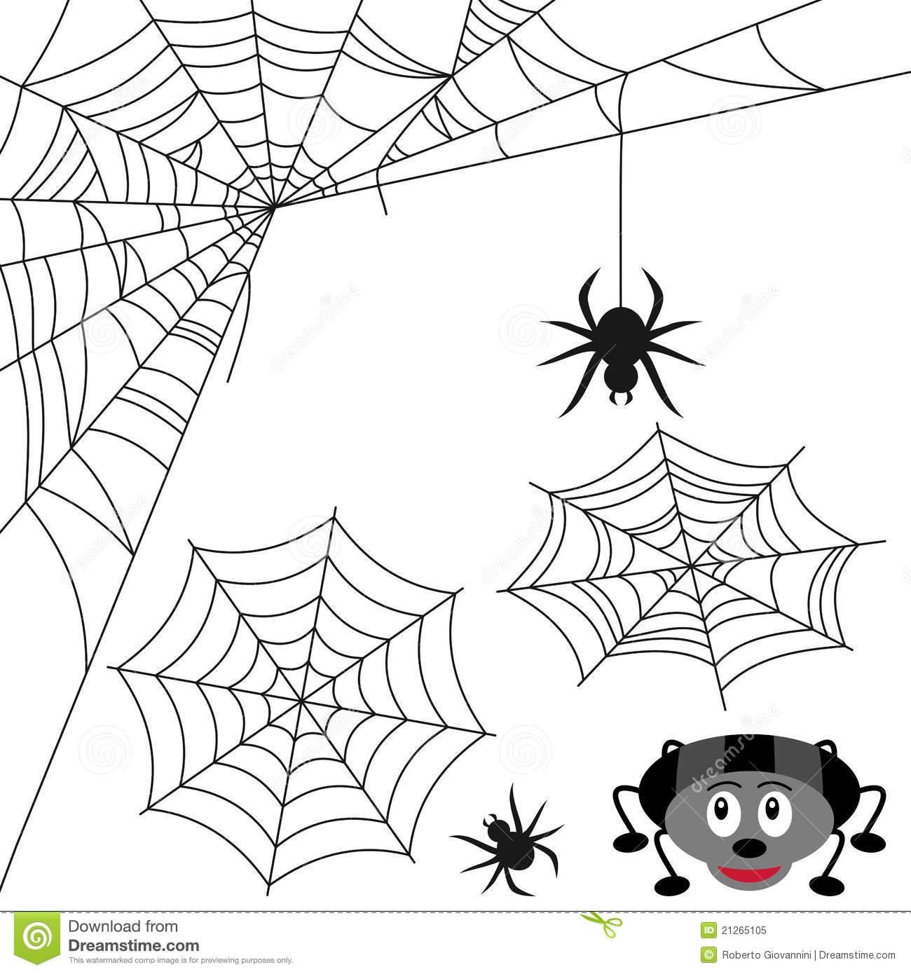 Positionnement De Toile D'araignée Illustration De Vecteur tout Dessin Toile Araignée
