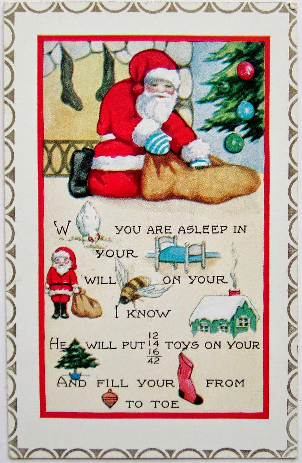 Postcardiva Postcard Blog: Whitney Rebus Christmas Postcards dedans Rebus Noel
