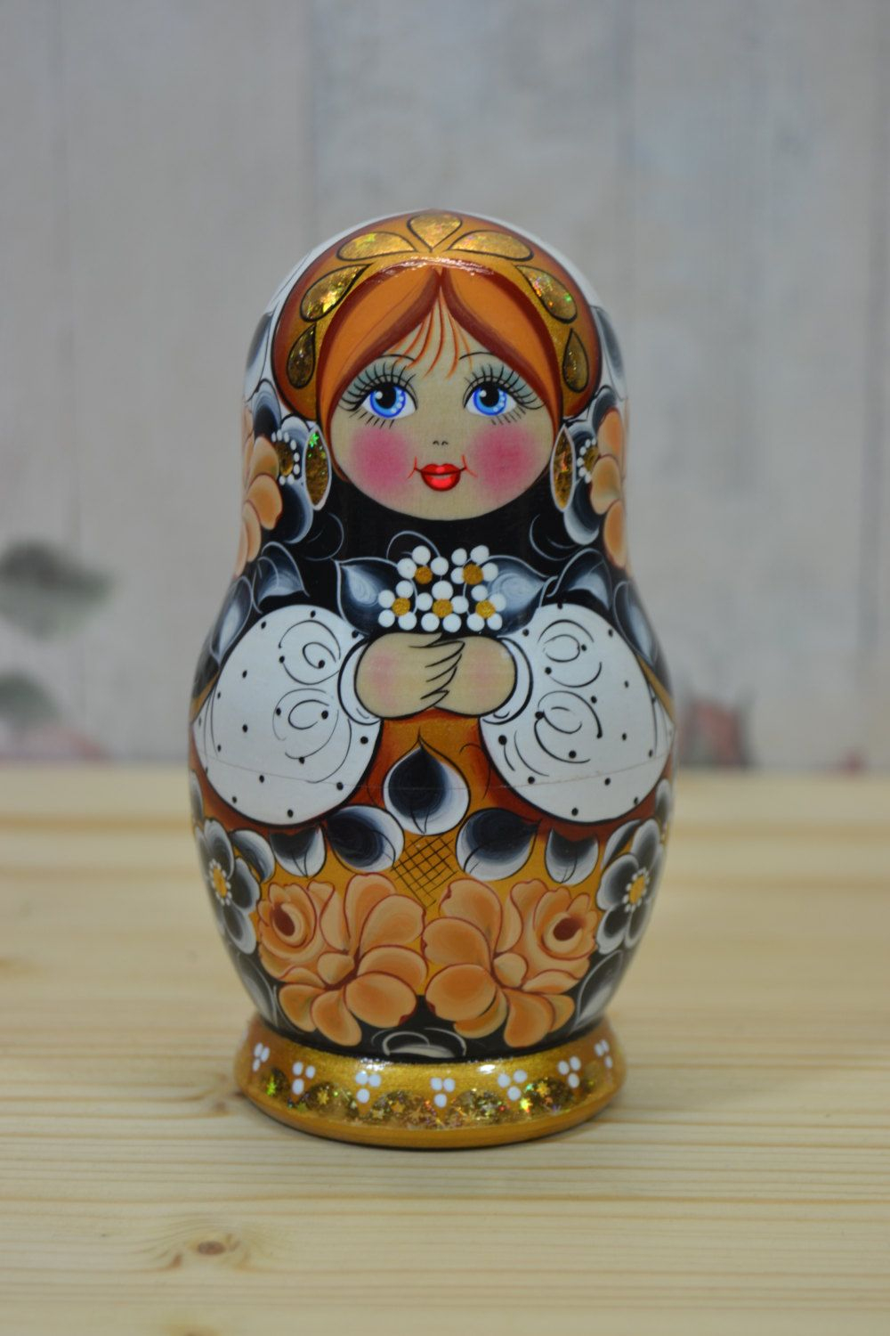 Poupée De Matryoshka Lot De 5. Fireplacehomeshelf Décor à Nom Poupée Russe