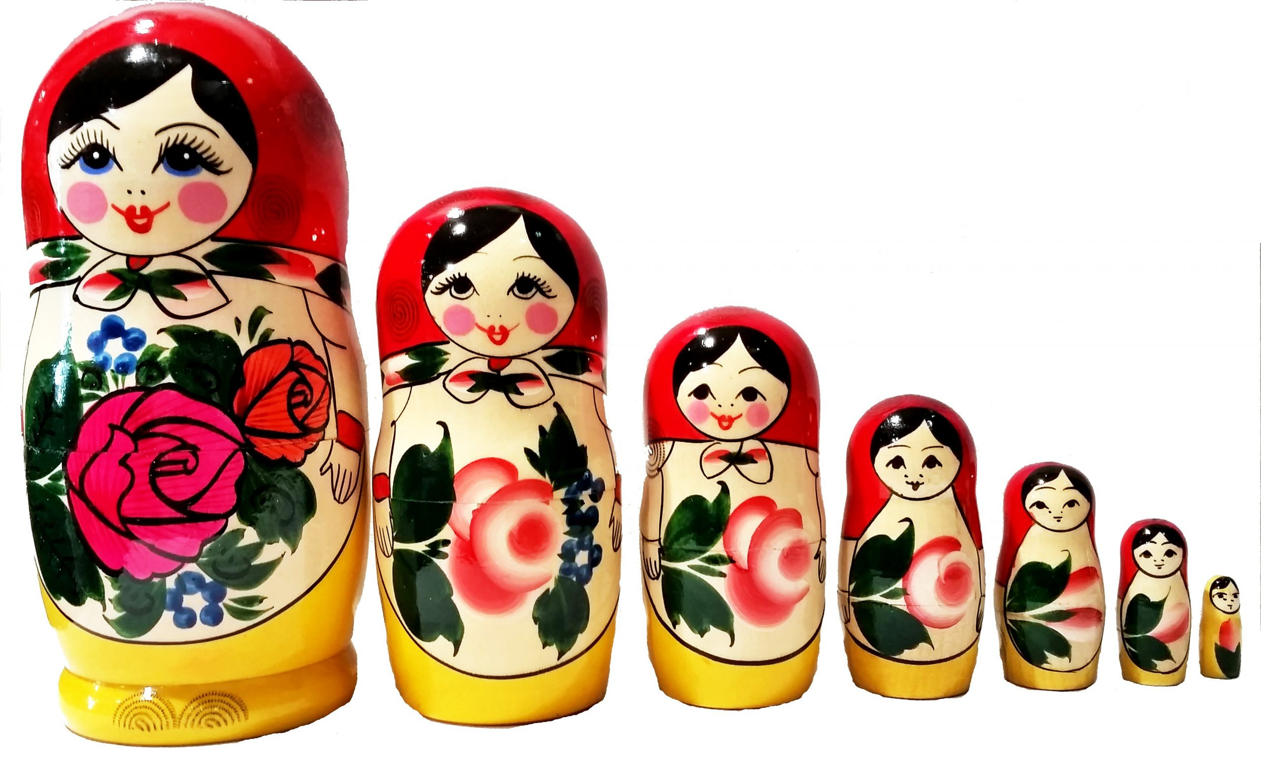 Poupée Russe 7Pcs. - Tendance Russe avec Nom Poupée Russe