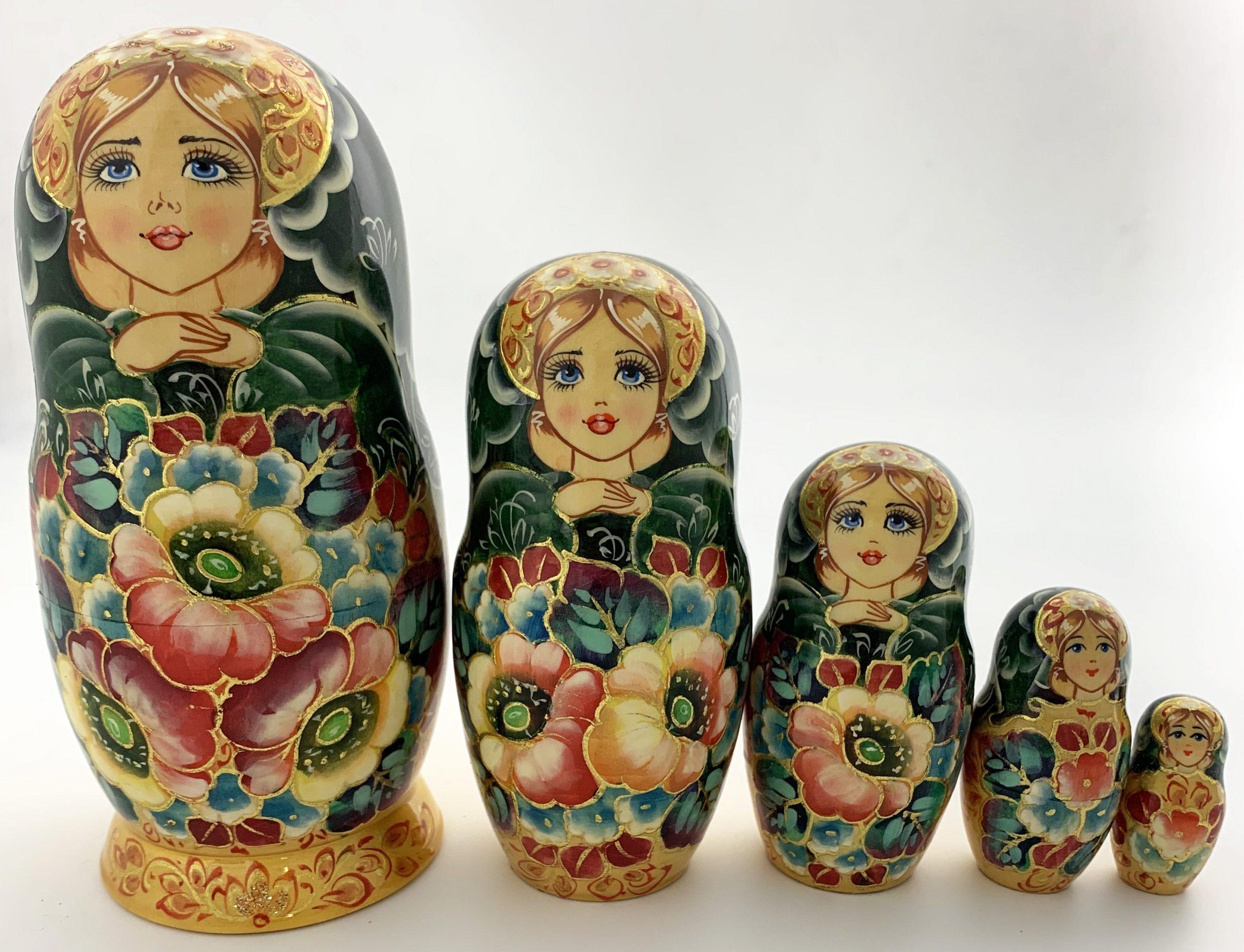 """Poupée Russe De Collection """" Les Fleurs """". - Tendance Russe à Nom Poupée Russe"""
